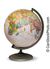 Style World Globe - Antique world globe isolated