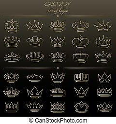 styles., 別, セット, 王冠