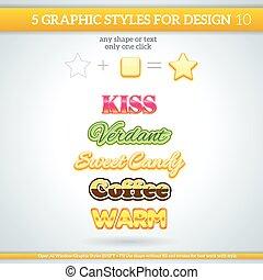 styles, divers, graphique, ensemble, design.