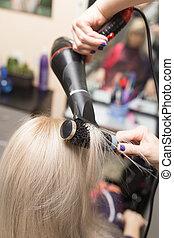 Styling female hair dryer