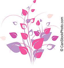 stylique floral, élément