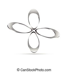 stylique floral, business, icône