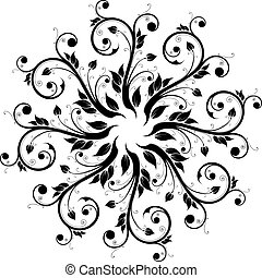 stylique floral, ornement