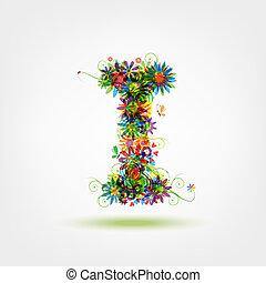 stylique floral, ton, lettre