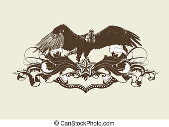 stylisé, aigle