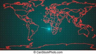 stylisé, alpha, global, virus, covid-19, concept, fond, ...
