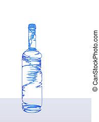 stylisé, bouteille