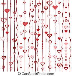 stylisé, cœurs, amour, fond