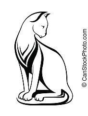 stylisé, chats