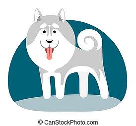 stylisé, collectif, chiens, image