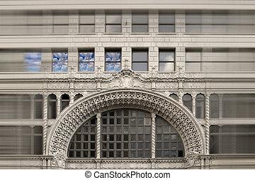 stylisé, façade