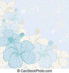 stylisé, flowers., carte
