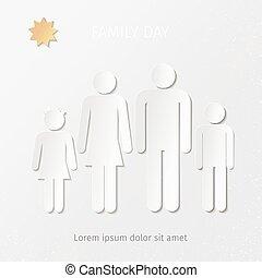 stylisé, jeune famille, signe