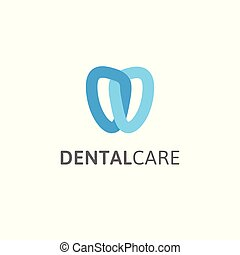 stylisé, linéaire, dentaire, moderne, logotype, stylized., stomatology., clinique, dentiste, vecteur, dent, noeud, template., logo, icon., résumé, soin