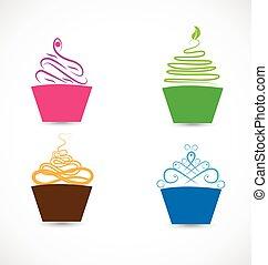 stylisé, logo, petits gâteaux