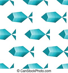 stylisé, modèle, fishes., seamless