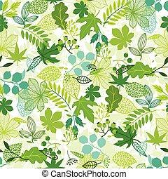 stylisé, modèle, vert, leaves.