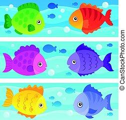 stylisé, poissons, topic, 1, image