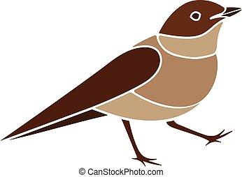 Simple Rossignol Dessin Anime Oiseau Simple Illustration