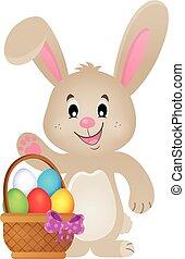 stylisé, thème, lapin pâques, image