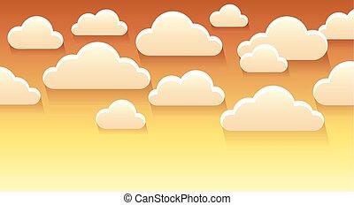 stylisé, thème, nuages, image, 4