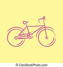 stylisé, vélo, vecteur, illustration