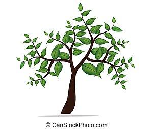 stylisé, vecteur, arbre