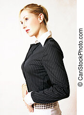 Stylised career girl - Highly stylised portrait, high...