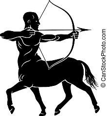 Stylised Centaur Archer - Archer centaur half horse half man...