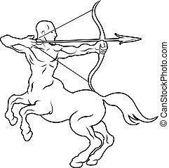 Stylised centaur archer illustration - An illustration of a...