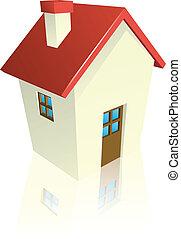 Stylised cottage or house