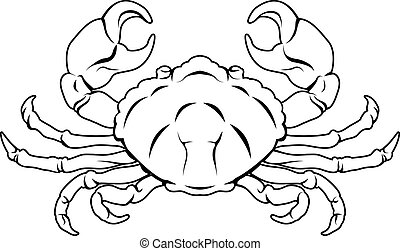 Stylised Crab illustration - An illustration of a stylised...