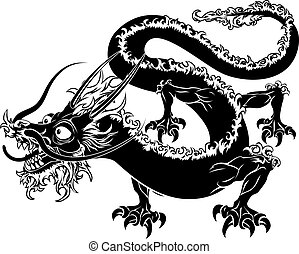 Stylised dragon illustration - An illustration of a stylised...