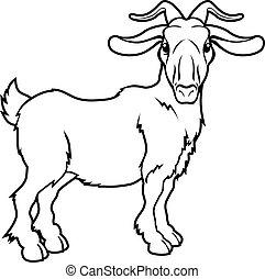 Stylised goat illustration - An illustration of a stylised...