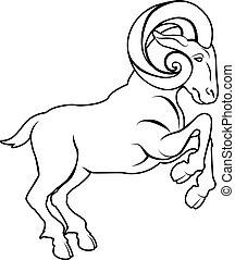 Stylised ram illustration - An illustration of a stylised ...