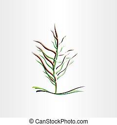 stylised tree vector illustration design icon