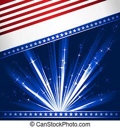 Stylised USA flag - Stylised Stars and Stripes. Patriotic,...