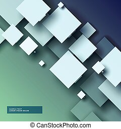 stylish 3d abstract background with squares