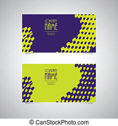 stylish abstract creative business cards, vector ...