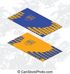stylish abstract creative business cards, vector illustration, Eps10