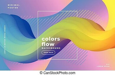 stylish abstract flyid 3d wave background