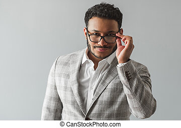 Stylish Afro American guy