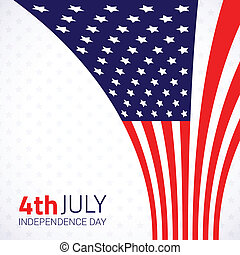 Stylish american Independence day design.