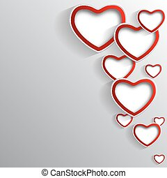 Stylish background to the Valentine