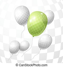 Stylish background with color flying balloons. Vector eps 10