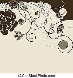 stylish background with flowers