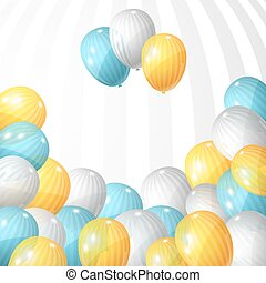 Stylish background with flying balloons. Vector eps 10