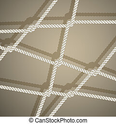 Stylish background with rope. Vector illustration