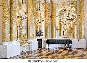 Stylish ball room.