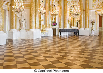 Stylish ball room. - Ball room in Royal Castle in Warsaw.